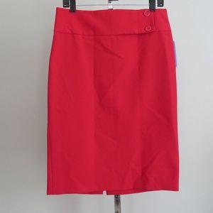 Zara basic red pencil skirt size 8